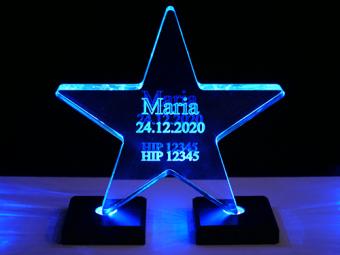 Étoile en acrylique (illuminée)